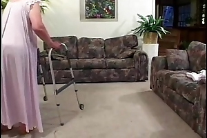 Granny loses will not hear of teeth while sucking