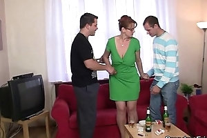 Threesome troop at hand aged favoured