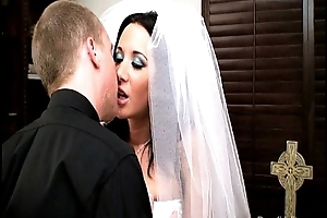 Down in the mouth bride jayden james fucks their way celebrant