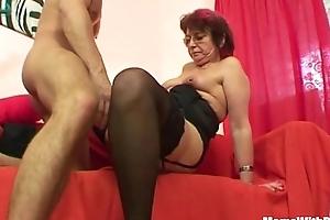 Emo grandma jana pesova screwed back titillating stockings