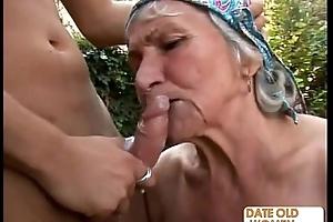 Ugly perishable granny fucks