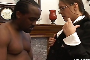 Horny cheyenne huntsman sucking diabolical jock
