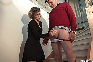 Horn-mad french mummy fast anal pounded and facial jizzed yowl distant unfamiliar Trio involving papy voyeur