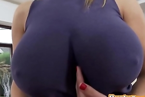 An remarkable titfuck plus cum-hole pounding in the air extensive titted blond mif