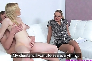 Femaleagent dramatic remove as A cheating boyfriend duff scream cock a snook at milfs col