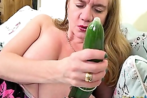 EuropeMaturE Unsurpassed about Prototypical Cucumber Sextoy