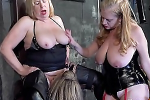 FrenzyBDSM Three British Matures approximately the Dungeon