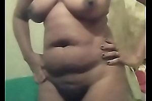 Fat mature African girl carrying out cam show for my carry the